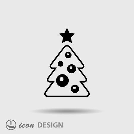 tannenbaum: Piktogramm der Weihnachtsbaum