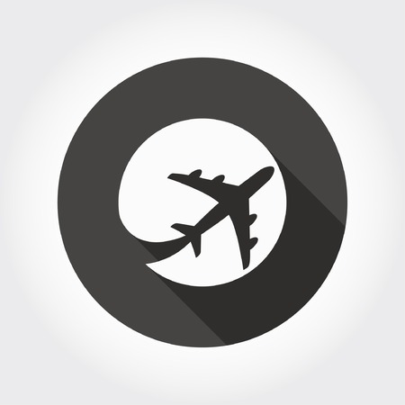 wings icon: Pictograph of airplane