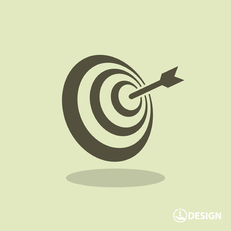 dart on target: Pictograph of target Illustration