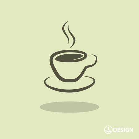isolated icon: Pictograph of cup Vettoriali