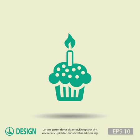 cake birthday: Pictograph of cake Illustration