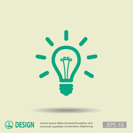 bright ideas: Pictograph of light bulb