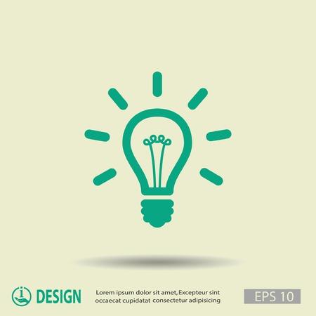 Piktogramm der Glühbirne Standard-Bild - 45601771