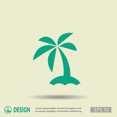 島の絵文字  イラスト・ベクター素材