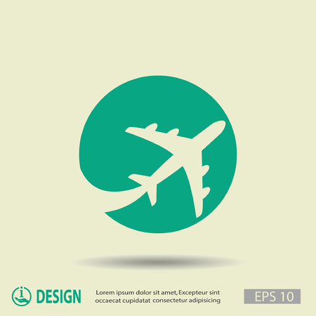 travel concept: Pictograph of airplane