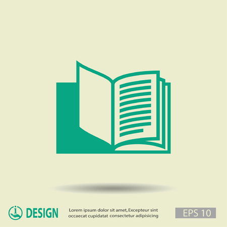 book design: Pictograph of book