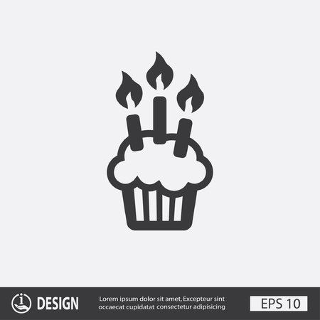pictograph: Pictograph of cake Illustration