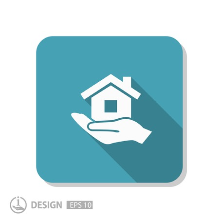 home icon: Pictograph of home Illustration