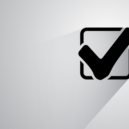 right choice: Pictograph of check mark