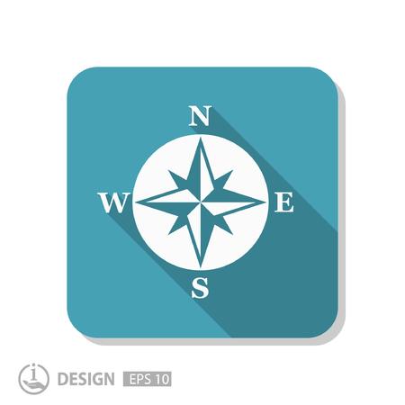 web design icon: Pictograph of compass