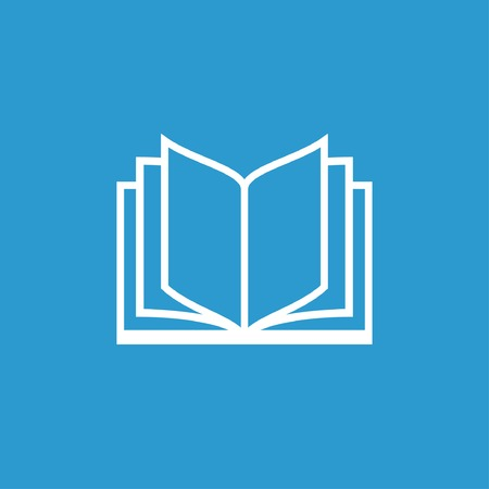 open book icon: Pictograph of book