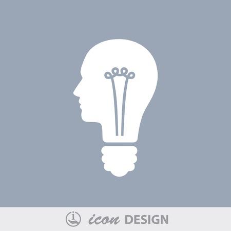 idea icon: Pictograph of bulb concept
