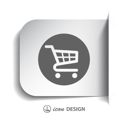 retailer: Pictograph of shopping cart Illustration