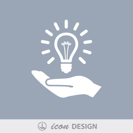 solution icon: Pictograph of light bulb