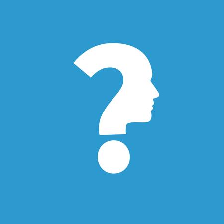 pensamiento creativo: Pictograma del signo de interrogación y el hombre