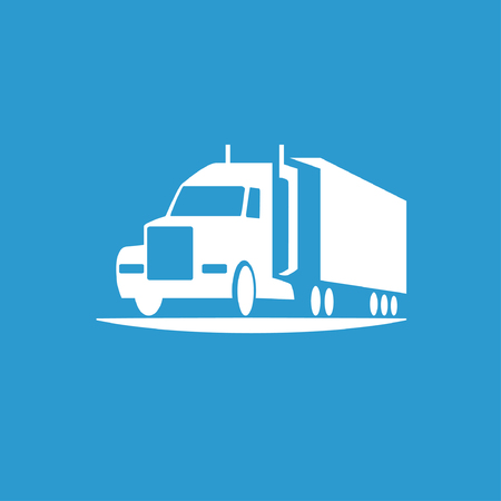 semi trailer: Pictograph of truck