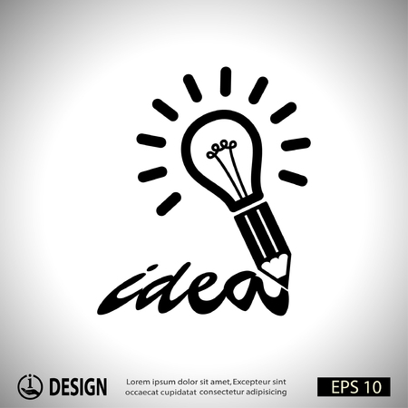 design solutions: Pictograph of light bulb