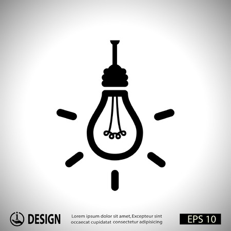 power button: Pictograph of light bulb
