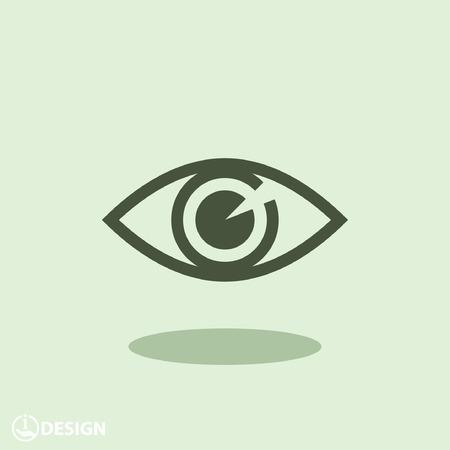 Beeldschriftteken van het oog Vector Illustratie