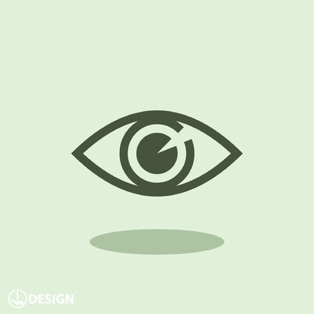 business vision: Pictograph of eye Illustration