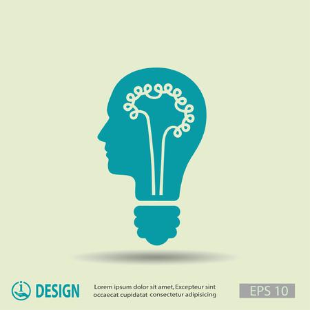 success symbol: Pictograph of bulb concept