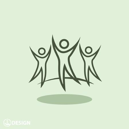 pictograph: Pictograph of success team