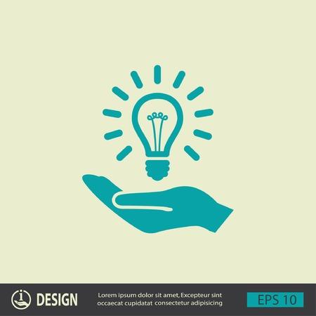 lightbulb: Pictograph of light bulb