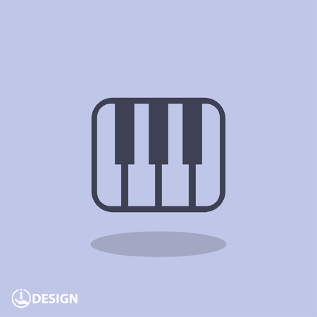 pictograph: Pictograph of music keyboard Illustration