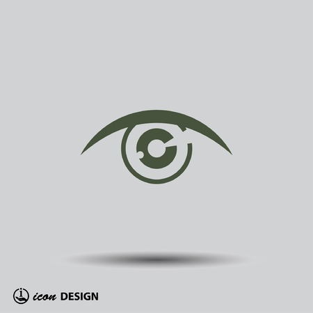 circle design: Pictograph of eye Illustration