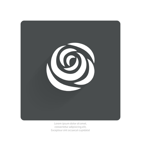 abstract rose: Pictograph of rose