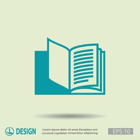 libro abierto: Pictograma del libro