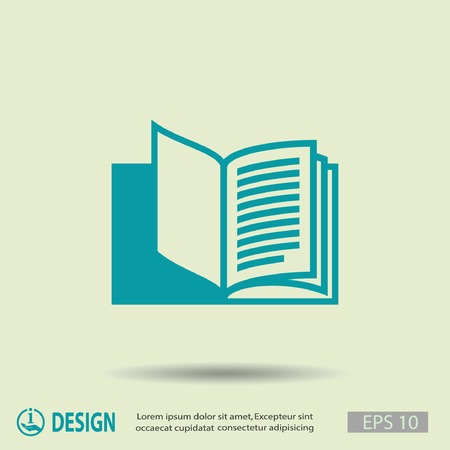book icon: Pictograph of book