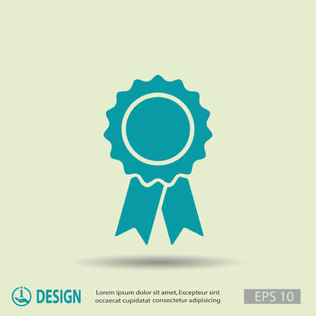 winning first: Pictograph of award