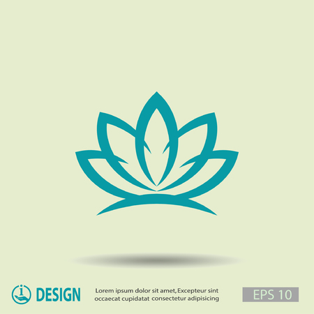 lily leaf: Pictograph of lotus