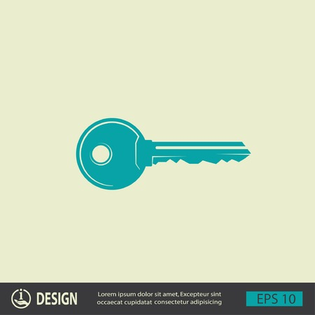 door key: Pictograph of key Illustration