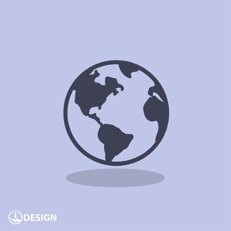 Beeldschriftteken van globe