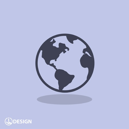 graphic icon: Pictograph of globe Illustration