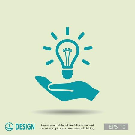 Pictograph of light bulb Vetores