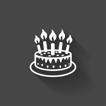 birthday candle: Pictograph of cake Illustration