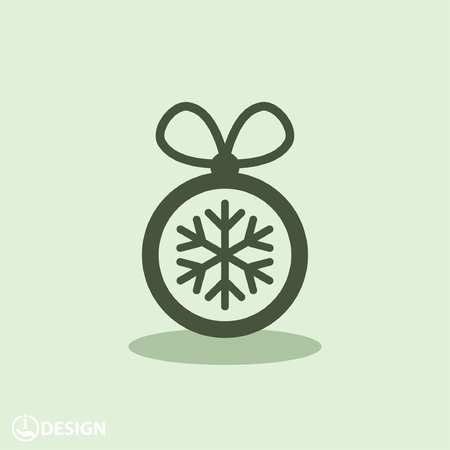 christmas icon: Pictograph of christmas ball