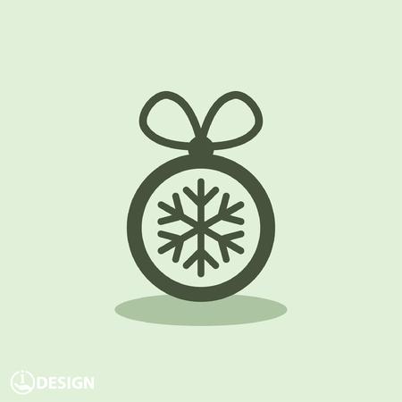circle icon: Pictograph of christmas ball