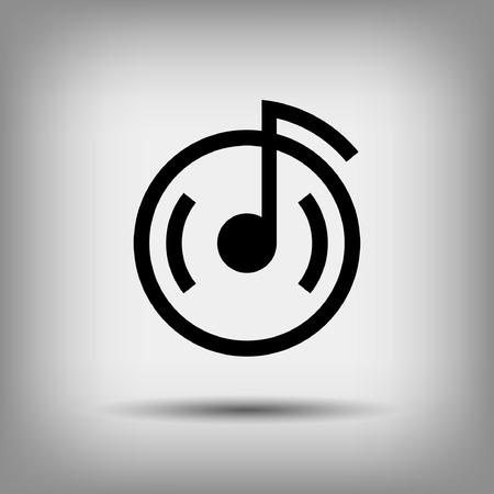 notas musicales: Pictograma de la nota musical