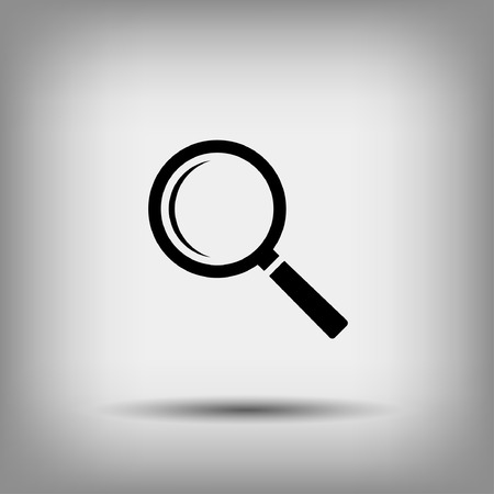 magnify glass: Pictograph of search