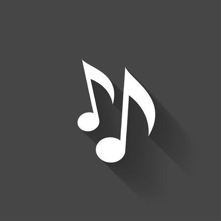 iconos de m�sica: Pictograma de la nota musical