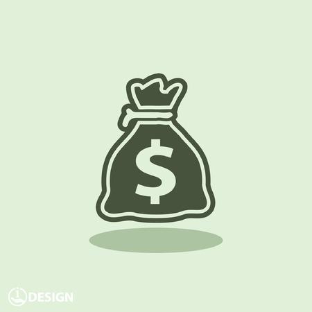 banco dinero: Pictograma de dinero Vectores
