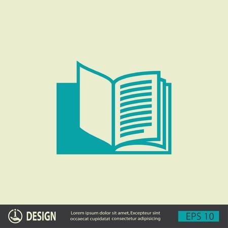 libros abiertos: Pictograma del libro