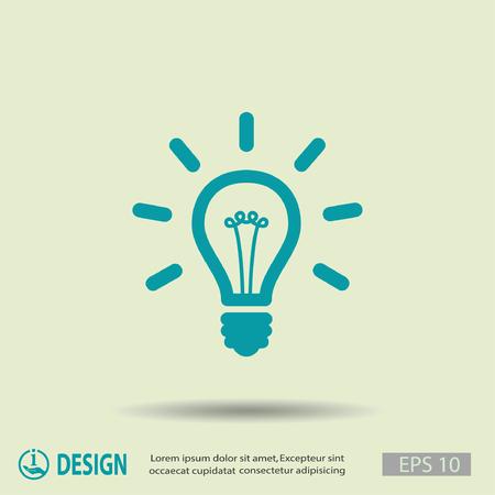 lightbulb idea: Pictograph of light bulb