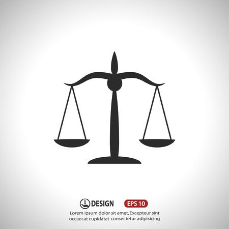 justicia: Pictograma de las escalas de la justicia