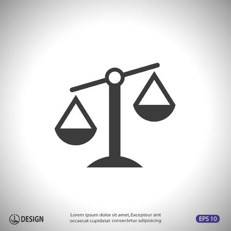 signos de pesos: Pictograma de las escalas de la justicia