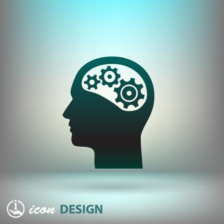 head: Pictograph of gear in head